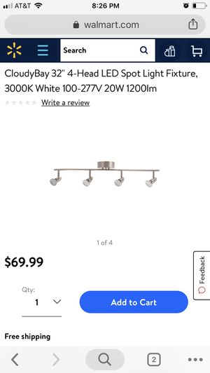 "32"" 4 Head Led Track Light Fixture for Sale in Chicago, IL"