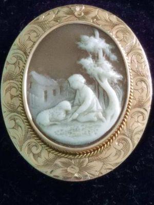 Used, 1880S CARVED CAMEO 14K ROSE GOLD VALENTINE SUPRISE for Sale for sale  Sugar Hill, GA