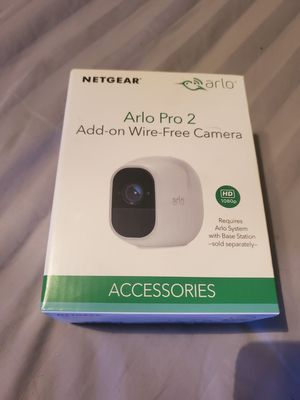 Arlo - Pro 2 Add-On Wireless Security Camera, 1080p, Weather Proof, Indoor/Outdoor - White for Sale in Wichita, KS