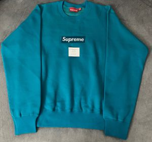 Supreme Box Logo Crew Neck (Teal) for Sale in Hialeah, FL