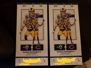 Rams vs Bears 11/17/19 for Sale in Los Angeles, CA