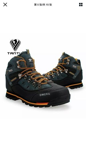 TANTU Men Hiking Shoes Waterproof Leather Shoes Climbing Fishing High Top Shoes for Sale in San Leandro, CA