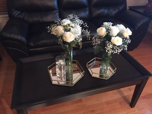 Black Coffee table & 2 end tables (wood) for Sale in Detroit, MI