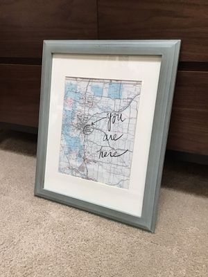 Denver Map Frame for Sale in Lakewood, CO