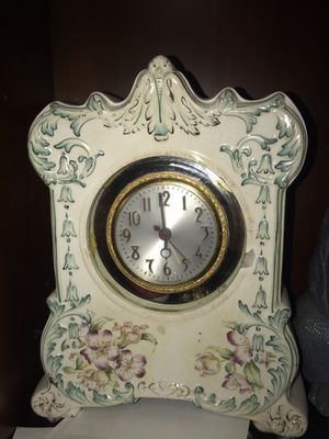 Antique floral clock for Sale in Carlsbad, CA