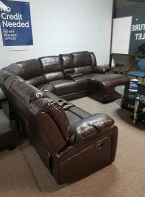 [F6746] 5-PCS RECLINING SECTIONAL BONDED LEATHER [ONLY $50 DOWN AND 90 DAYS TO PAY SAME AS CASH] for Sale in Irving, TX