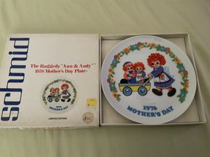 "THE SCHMID COLLECTIONS ""THE RAGGEDY ANN & ANDY PLATE IN ORIGINAL BOX #1 for Sale in Henderson, NV"