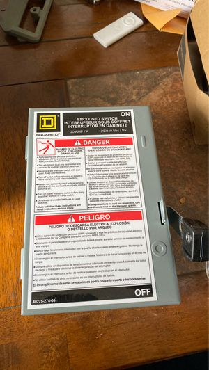 Enclosed 30 amp switch for Sale in Cleveland, OH