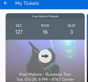 Post Malone ticket for Sale in San Antonio, TX