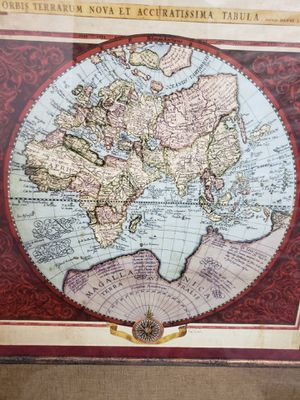 Wall hanging of old world map for Sale in Brookline, MA