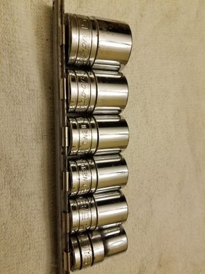 """Snap On Tools USA 1/2"""" Drive 6 Point Shallow Chrome Sockets - TW301/TW261/TW241/TW221/TW201/TW181A for Sale in Greer, SC"""