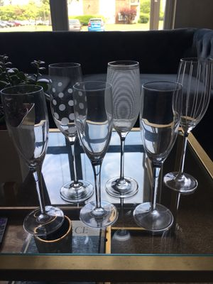 Six mikasa champagne flutes for Sale in Galloway, OH