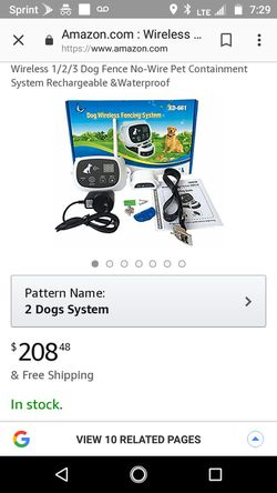 Wireless pet fence 2 dog system for Sale in Philippi,  WV