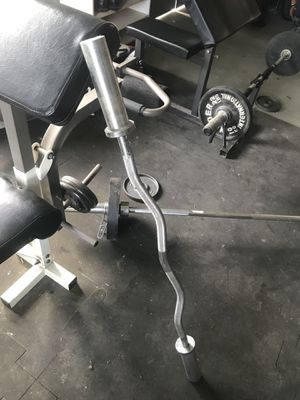 Selling 1- Olympic Curl Bar for Sale in Columbia Station, OH