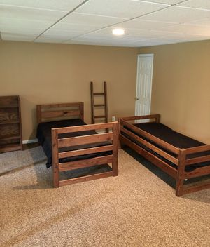 Wood Bunk Bed Set for Sale in Pittstown, NJ