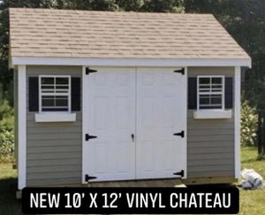 New 10' x 12' Pebble Vinyl Chateau Shed 10x12 for Sale in East Bridgewater, MA