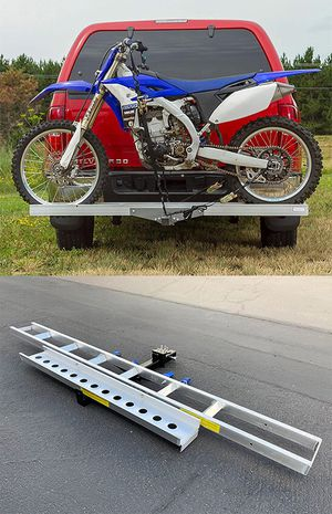 New in box $75 Aluminum Foldable Motorcycle Loading Ramp, Scooter, Wheel Chair, Motorbike (Max 450 lbs) for Sale in Montebello, CA