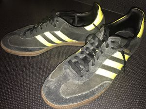 adidas samba black and yellow with gum sole for Sale in Portland, OR