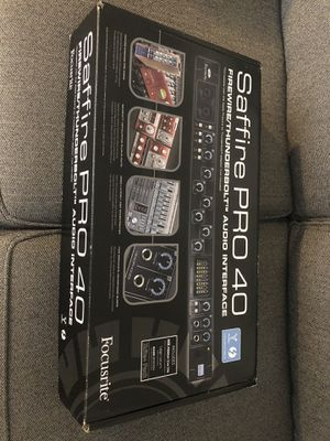 Saffire Pro 40 audio interface for Sale in MIDDLEBRG HTS, OH