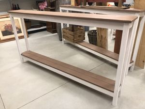 Farmhouse console table shelf for Sale in Pilesgrove, NJ