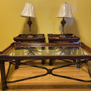 3 Piece Coffee Table Set with Lamps for Sale in Manassas, VA
