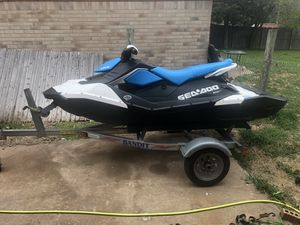 2018 Sea doo 3 up wanting to trade for a rzr for Sale in Jones, OK