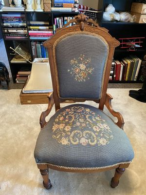 Antique Victorian Needlepoint Chair for Sale in Zephyrhills, FL