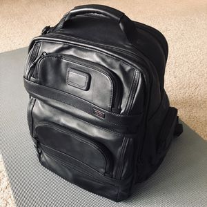 "Tumi - Like New - Alpha2 T-Pass Leather 15"" Laptop Backpack for Sale in Arlington, VA"