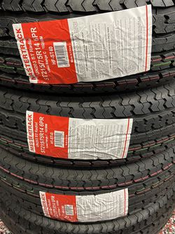 MASTER TRACK ST215/75R14 $60 NEW 6ply 215/75/14 TRAILER TIRES 215/75R/14 6 PLY for Sale in San Bernardino,  CA