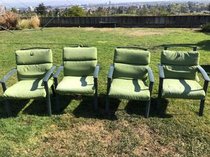 Free garden chairs in fine shape. Super strong and great quality. Very light.a for Sale in Belmont, CA