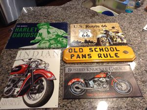 Harley and Indian motorcycle signs for Sale in Conroe, TX