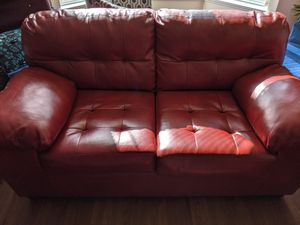 Leather couchers!!! One 3 seater with fold-out bed and a 2 seater. for Sale in Silver Spring, MD