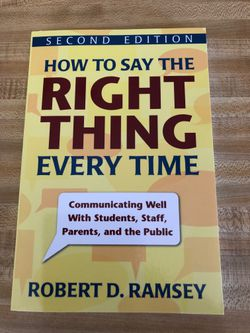 Self Help Book - How to Say the Right Thing Every Time for Sale in Colleyville,  TX