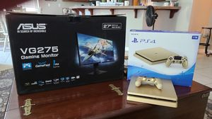 Gold Ps4 Limited / Asus VG275 Gaming Monitor Bundle for Sale in Lathrop, CA