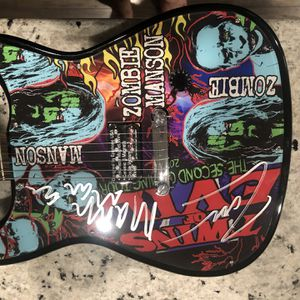 Brand new Epiphone Electric Guitar Signed By Rob Zombie and Marilyn Manson for Sale in Mt. Juliet, TN
