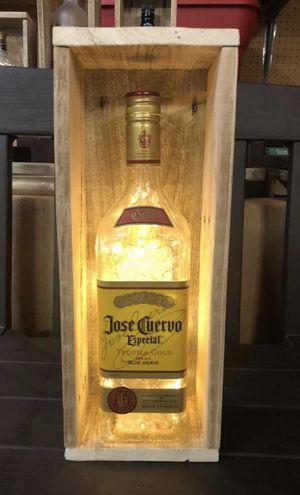 Jose Cuervo Tequila Bottle Light, Wood Frame, Christmas Lights for Sale in Hanover, MD