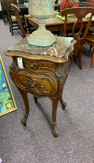 Antique Solid Wood and Marble Telephone Table for Sale in Huntington Beach, CA