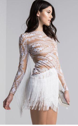 Akira fringe white dress for Sale in Irving, TX