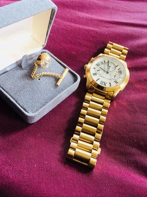10k Gold watch & Gold diamond earring for Sale in Boston, MA