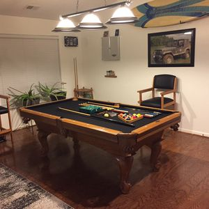 American Heritage 7ft Slate Pool Table Complete Game Room. for Sale in Virginia Beach, VA