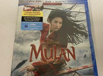 BRAND NEW SEALED Mulan Blu-ray + DVD + Digital HD Brand New for Sale in Glendale,  CA