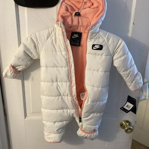 White Nike Snow Jacket/Snow Suit, 9 Month for Sale in Berwyn, PA
