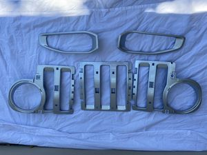 Silver Grill inserts for Jeep Wrangler JL Sahara for Sale in Walnut Creek, CA
