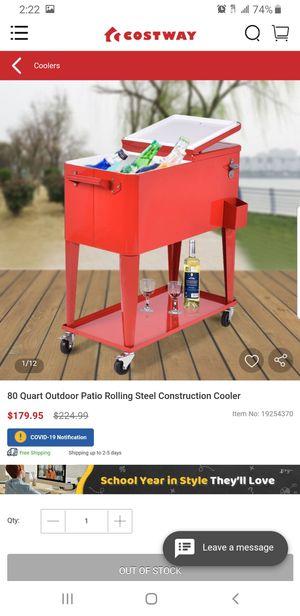 80 Quart Steel Rolling Cooler for Sale in Hesperia, CA