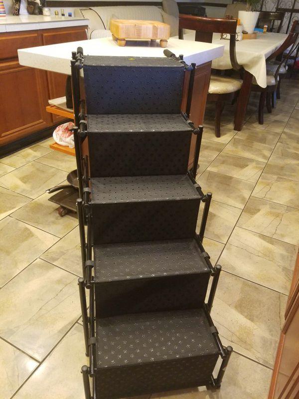 Pet Car Step Stairs (Accordion Metal Frame)