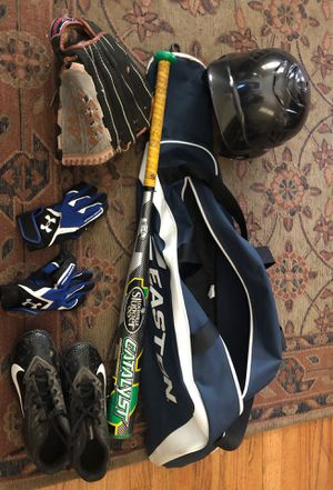 Baseball bat, helmet, bag, shoes, and govles for Sale in Los Angeles, CA