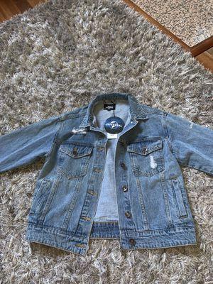 NEW Boyfriend Jean Jacket for Sale in Chula Vista, CA