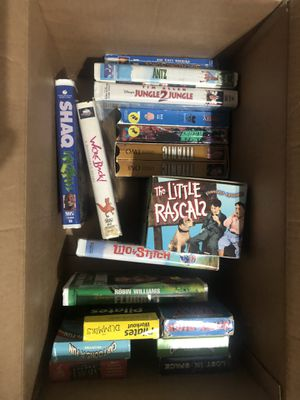 Box of vhs tapes for Sale in Sherwood, WI