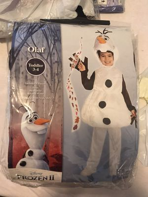 Frozen 2 Olaf toddler 3-4 for Sale in North Bergen, NJ