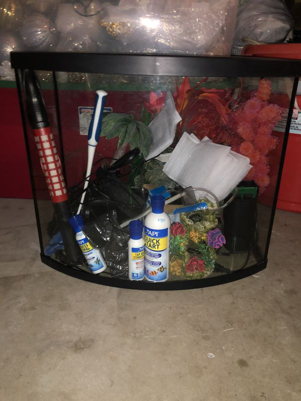 25 gallon fish tank with everything included inside the tank